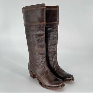 Frye Jane Redwood Pebbled Full Grain boots size 7